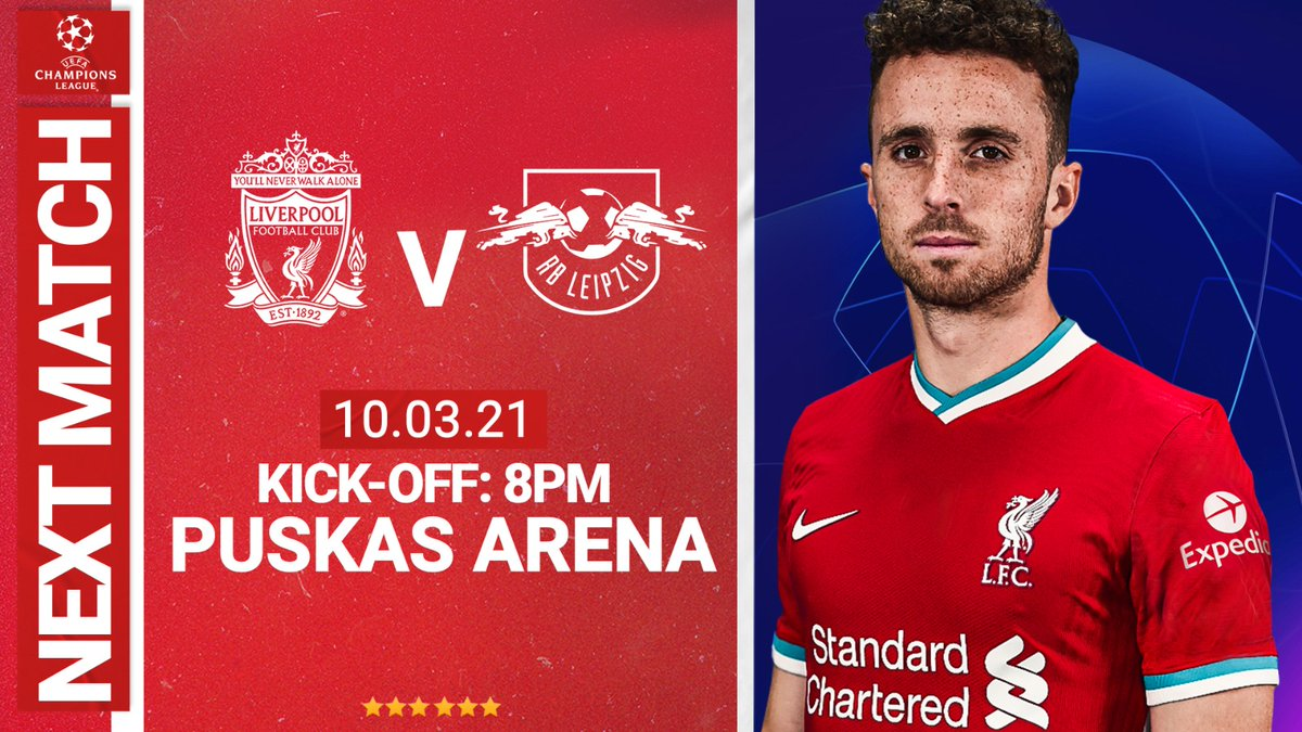 Next up, a return to @championsleague action 🔴  Half-time in the tie, we need to keep focused and together 👊 #LFCRBL