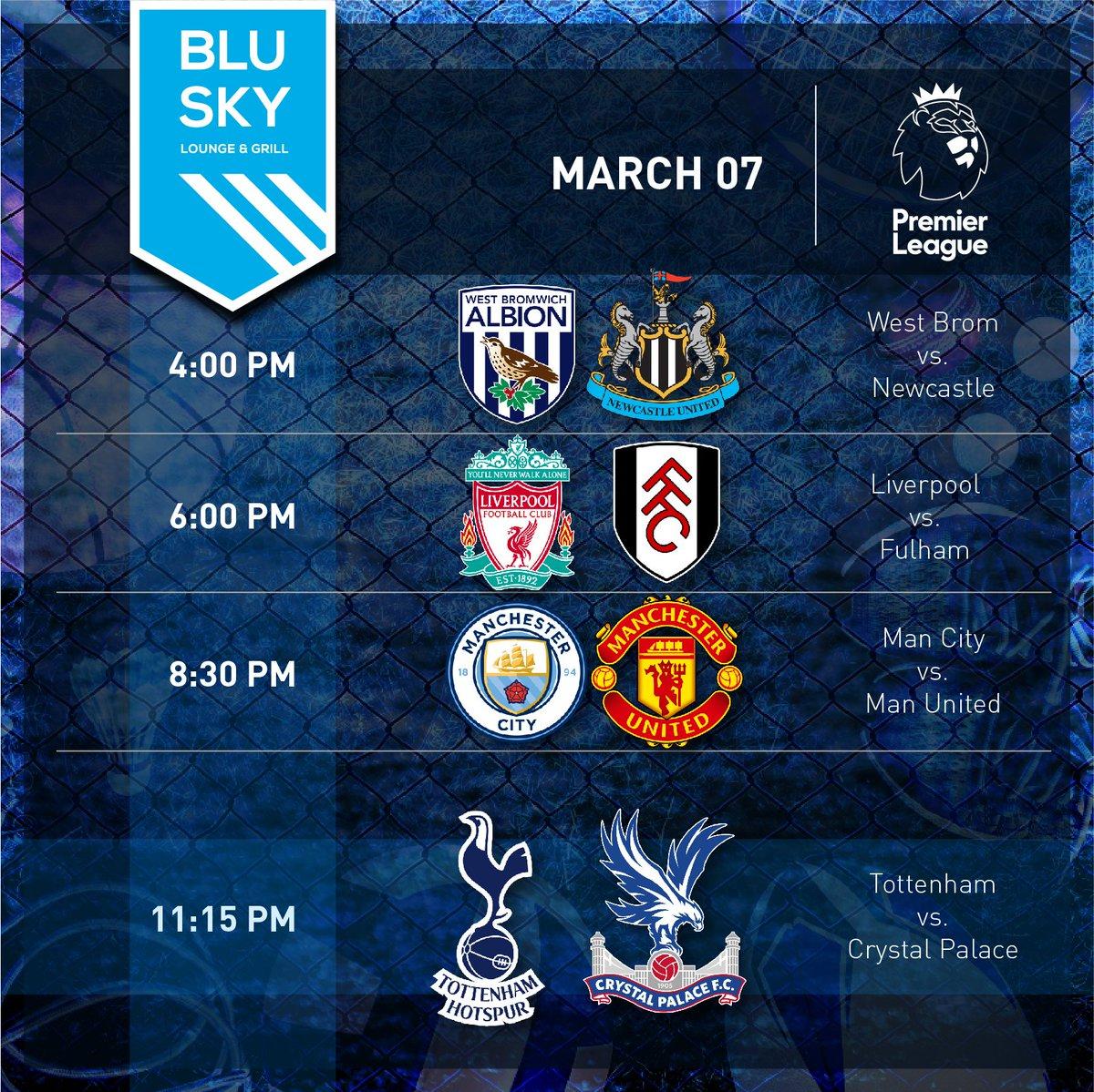 Big games happening tonight at Blu Sky.  Featuring #Liverpool vs. #Fulham at 6pm and #ManCity vs. #ManUnited at 8:30pm.  #EPL matches kickoff at 4pm and #LaLiga at 5pm.     #football #PremierLeague #abudhabisports #SportsBar #inAbuDhabi #yoUAE