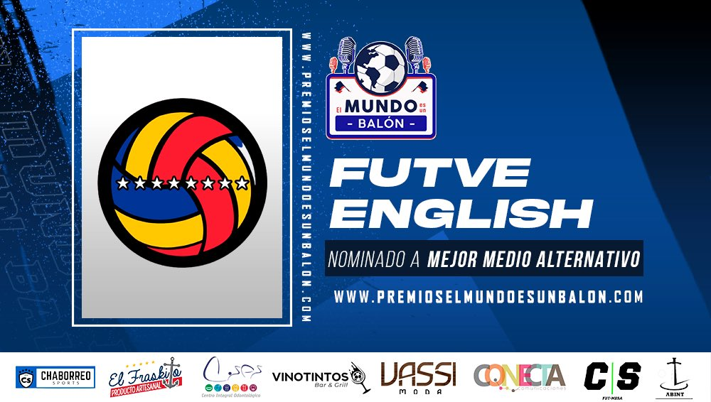 SoMe pErSoNaL nEws... I am fantastically proud to say last night @FUTVEEnglish was nominated for Best Alternative Media by @MundoUnBalon. If you enjoy what we do, we would greatly appreciate your vote! 🗳😍👇 premioselmundoesunbalon.com