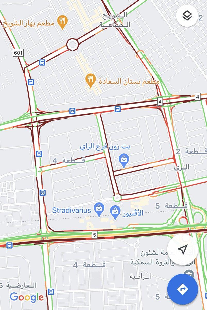 شلل كامل في شوارع منطقة الشويخ والري قبل ساعة من تطبيق قرار الحظر الجزئي.  #لا_للحظر  #وزارة_الداخلية  #وزارة_التجارة #وزير_الصحة