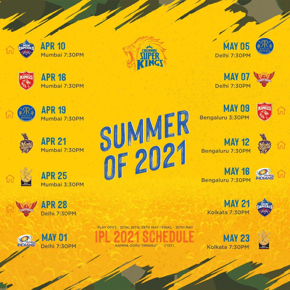 Ready ah... vaanga pa... summer coming! Block the #Yellove dates! #WhistlePodu #IPL2021 🦁💛