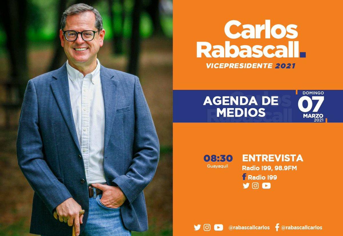 #RabascallEnMedios 🎤 | Hoy, nuestro futuro vicepresidente de #Ecuador, @rabascallcarlos, estará en @radioi99.  #TrabajoFuturoYDignidad  Síguelo [En Vivo] por ➡️ https://t.co/2JJRNQhhDu https://t.co/QbAx04AtuC