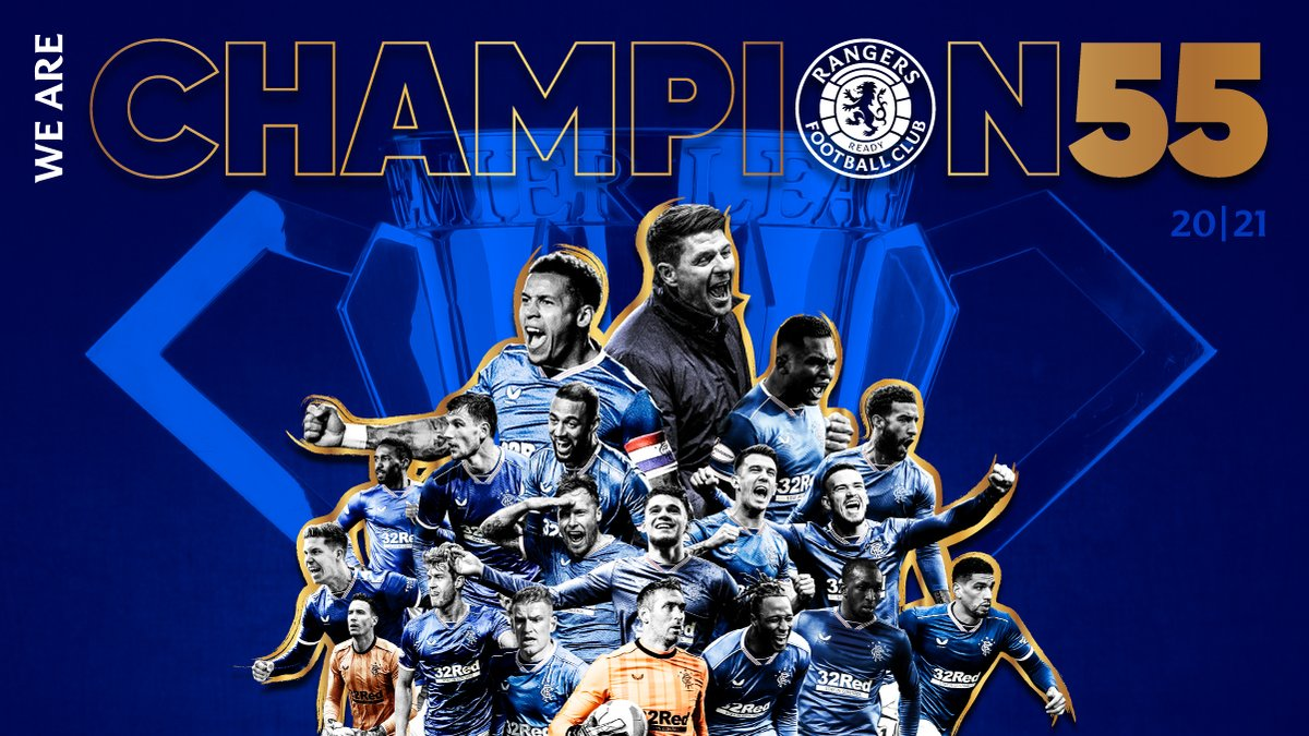 🏆 We Are Rangers 🏆 We Are Champions #Champion55
