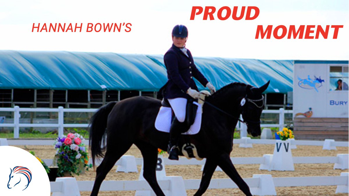"""Hannah Bown is one of our British Horse Feed family ambassadors! 🏆  """"With Stanley, my proudest moment was being placed 6th at our first attempt at the Area Festivals; he stayed away for the first time!""""  Does anyone else have a similar experience? 🌟👇  #SundayMotivation"""