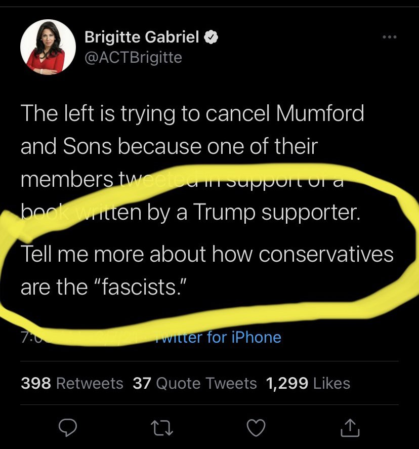 The book is literally pro-fascism.  Genius McGee here thinks it's fascist to be against fascism.