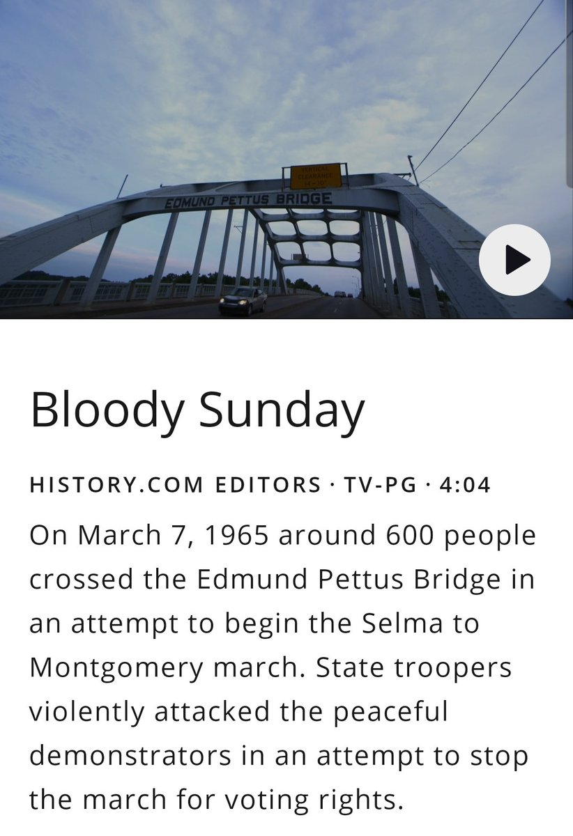 Remember this day in #History. @history  #VotingRights #BloodySunday #JohnLewis #MLK #CorettaScottKing #TheMoreYouKnow