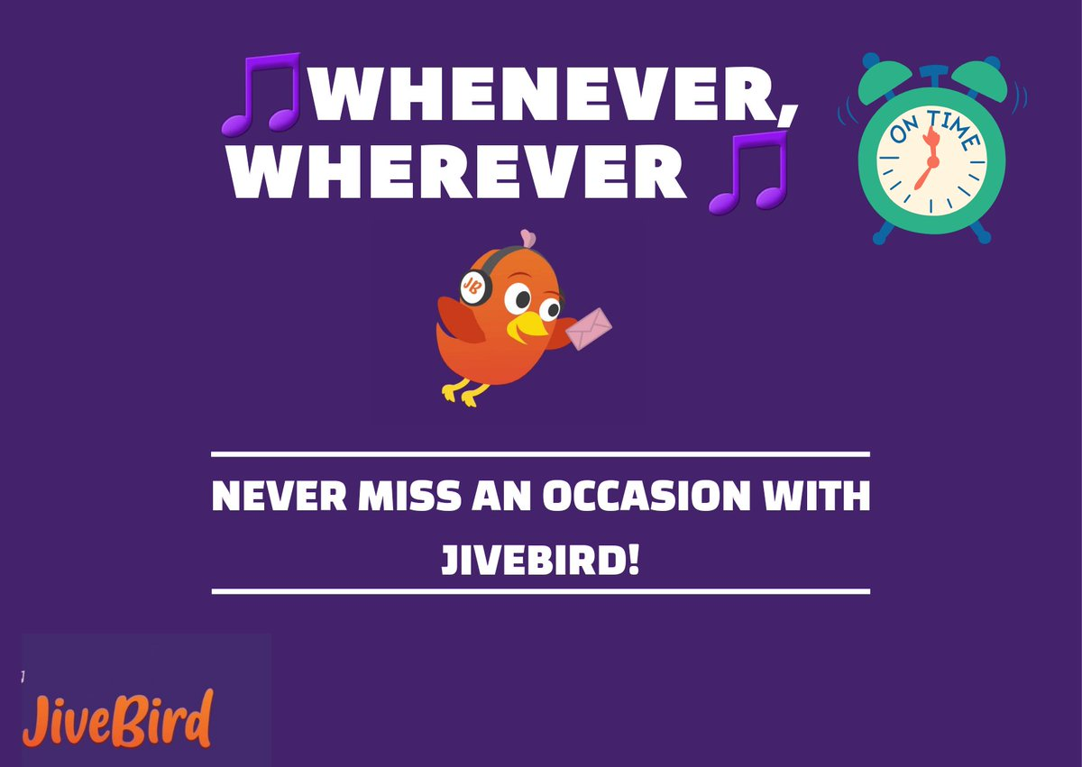 Worried about stores closing? delivery arriving late? With JiveBird you can send whenever, wherever, from the comfort of your sofa! Schedule the JiveBird so you never miss an occasion! #SundayThoughts #SundayFunday #JiveBird #LetsFly #Occasion #digital