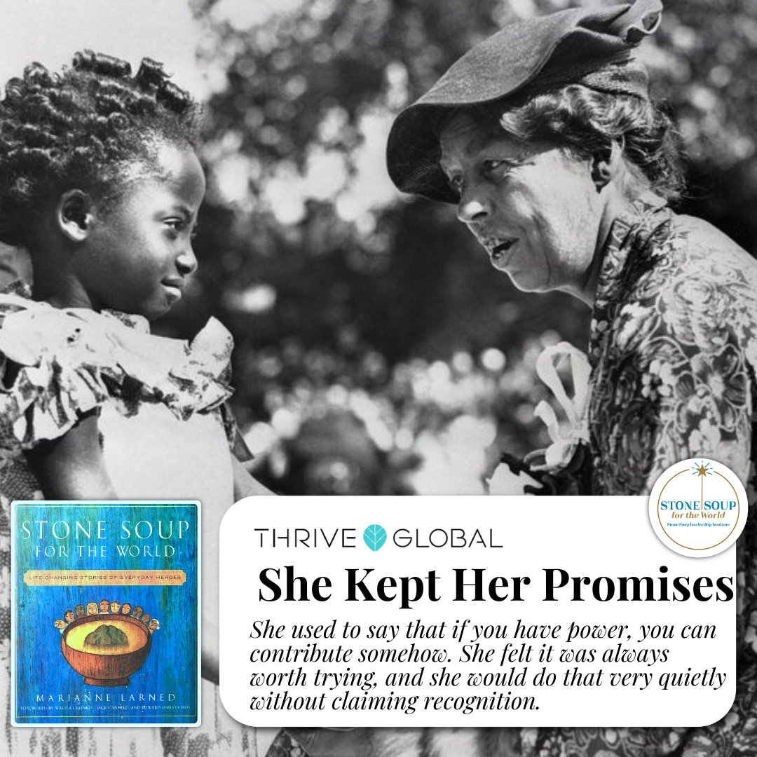 #SundayThoughts: In honor of #InternationalWomensDay this week's story on @ariannahuff's @thrive, shines the light on First Lady Eleanor Roosevelt's generous spirit and the story behind her resolve to never break a promise to anyone. @rooseveltinst  Link: