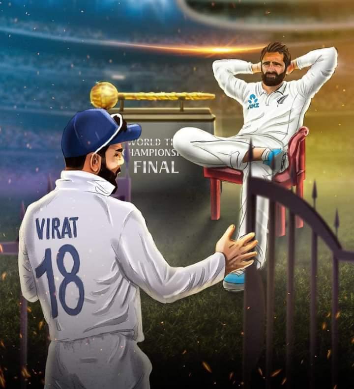 World test championship final ❤️ #ICCWorldTestChampionship #india #NewZealand #ViratKohli #williamson
