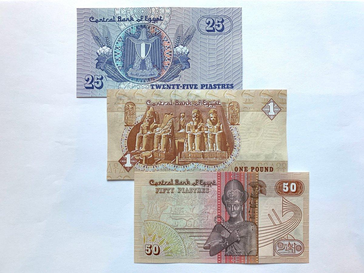 my #etsy shop: 3 pcs Egypt Piastres, Pound Set. Ramses II. Crisp, Uncirculated (UNC) Hosni Mubarak Era Billetes, Currency, Banknotes. Ancient Egyptian   #banknote #currency #ramses #notes #bills #ancientegypt #pesos #tutankhamen #coins
