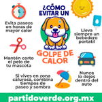 Esta temporada de calor, mantengamos a salvo a nuestras mascotas; si tienes oportunidad, ayuda a....