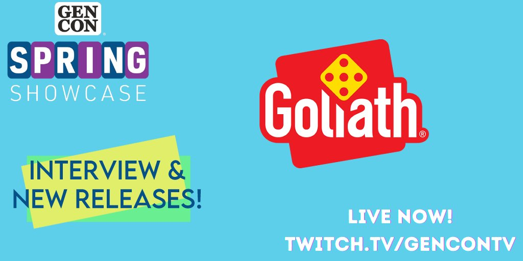 test Twitter Media - Check it out! @GoliathGames is gonna chat with our hosts about what's upcoming in their gaming world, live on https://t.co/8dkTm8DNSf! https://t.co/tsXP0kHEJ4