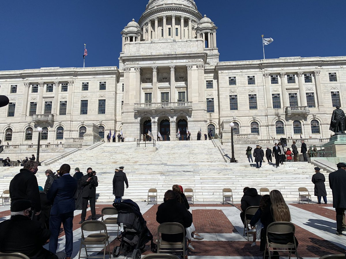 Just minutes away from the Inauguration Ceremony for Dan McKee, who will be the 76th Governor of Rhode Island. @ABC6
