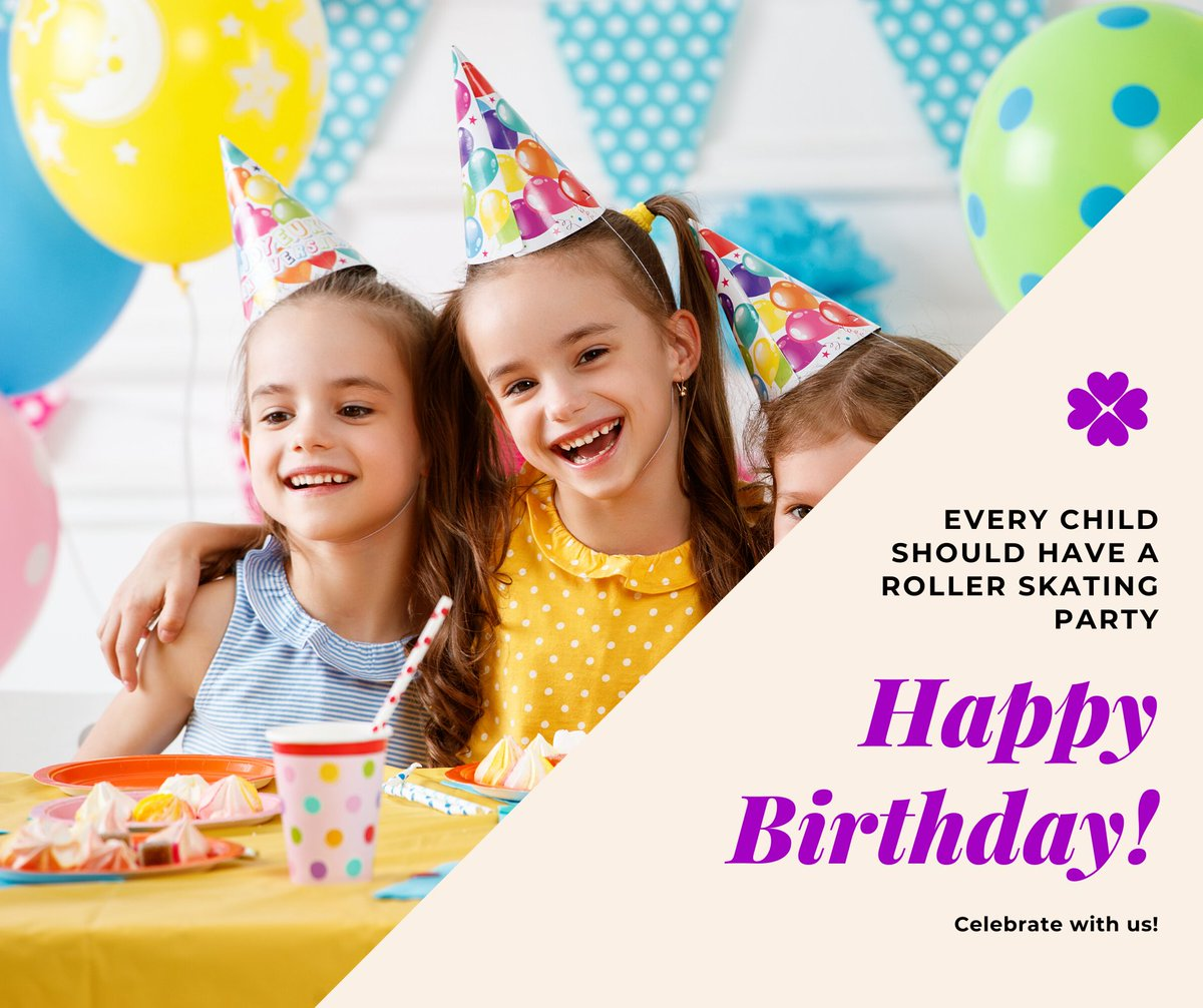Birthday Parties on roller skates make lifetime memories, make yours at Sk8 World Portage. Call us and let's plan your party! #birthdayparty #party #rollerskate #sk8worldnwi #portage