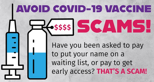 #FBITampa reminds you to source vaccine and safety information from state and local health authorities. If you receive solicitation from unknown groups about #COVID19 vaccine availability or transportation, check with officials first! #FightFraud ic3.gov