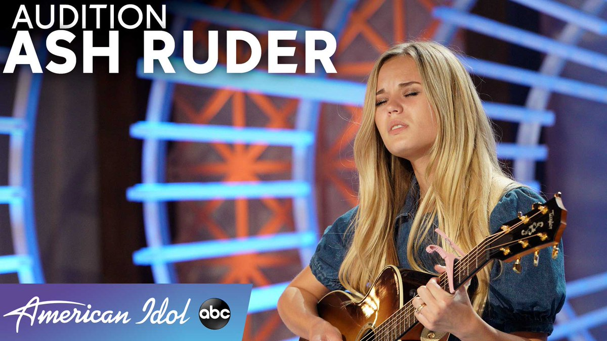 "Grab a tissue and watch @ashruder perform a beautiful original song called ""Song For Dad"" for the judges!  WATCH:   #AmericanIdol"