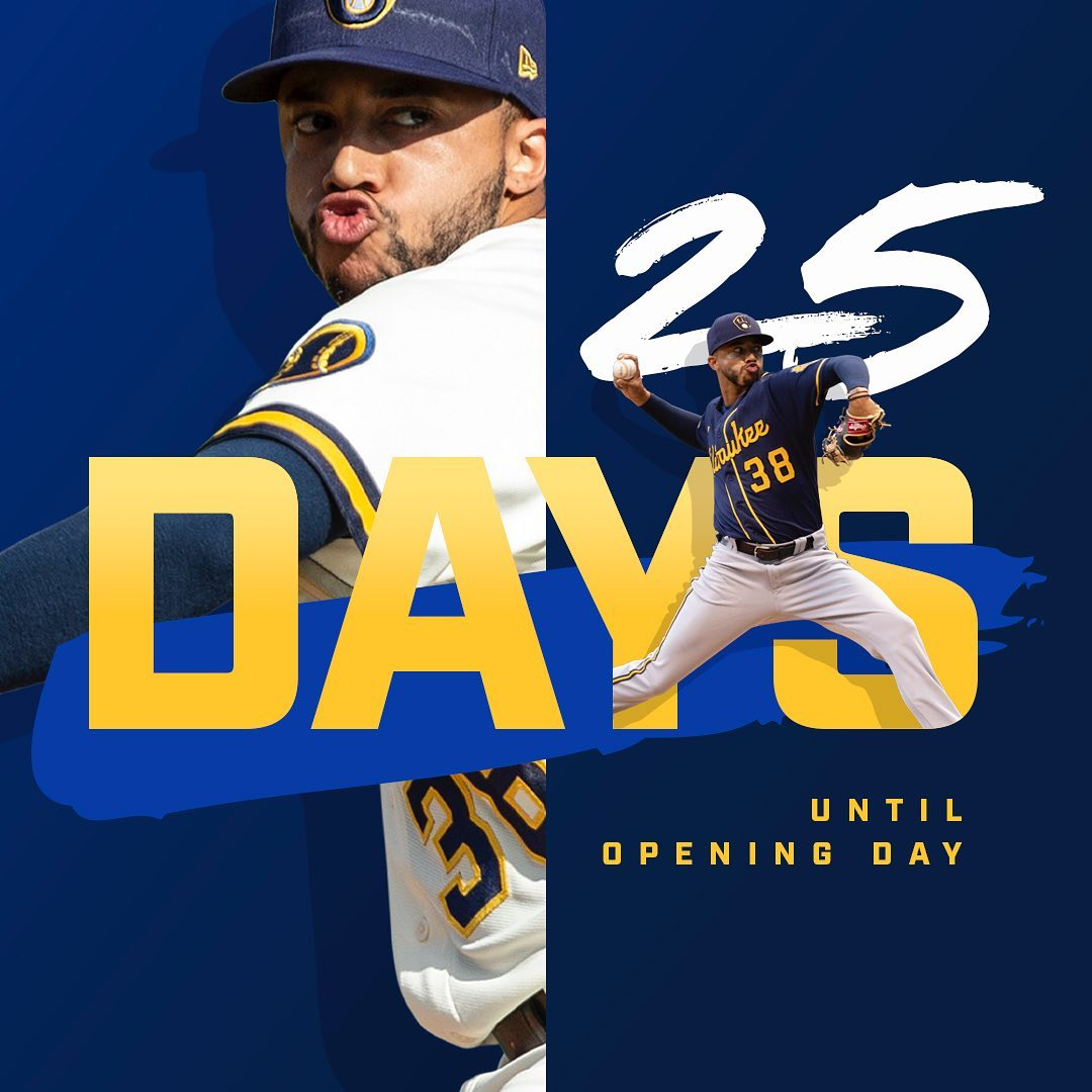 #Milwaukee #Brewers: Get ready... 25 days until Opening Day.  ##OpeningDay ##ThisIsMyCrew ##Brewers...       #Baseball #MajorLeagueBaseball #MilwaukeeBrewers #MLB #MLBNationalLeague #MLBNationalLeagueCentral #Wisconsin