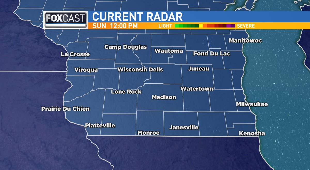 Heading out to lunch? Here's a look at your midday radar for southern #Wisconsin.  #wiwx