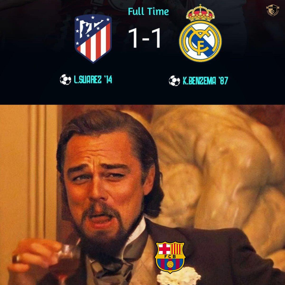 The real winner: FC Barcelona 😂😎  #laliga #Madridderby #Benzema #luissuarez  #premierleauge #manchesterderby #manchesterunited #manchestercity #ggmu # #AtleticoMadrid #realmadrid #Bundesliga #bayernmünchen e