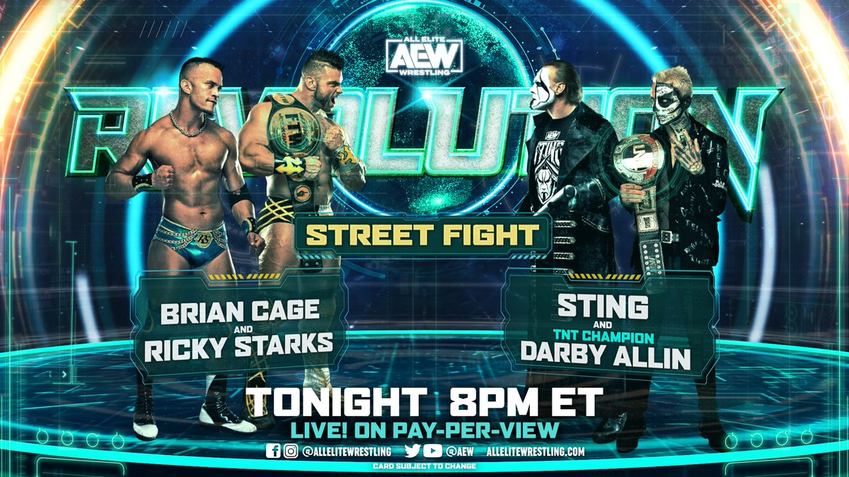 Sting Street Fight Match Taped Ahead Of AEW Revolution