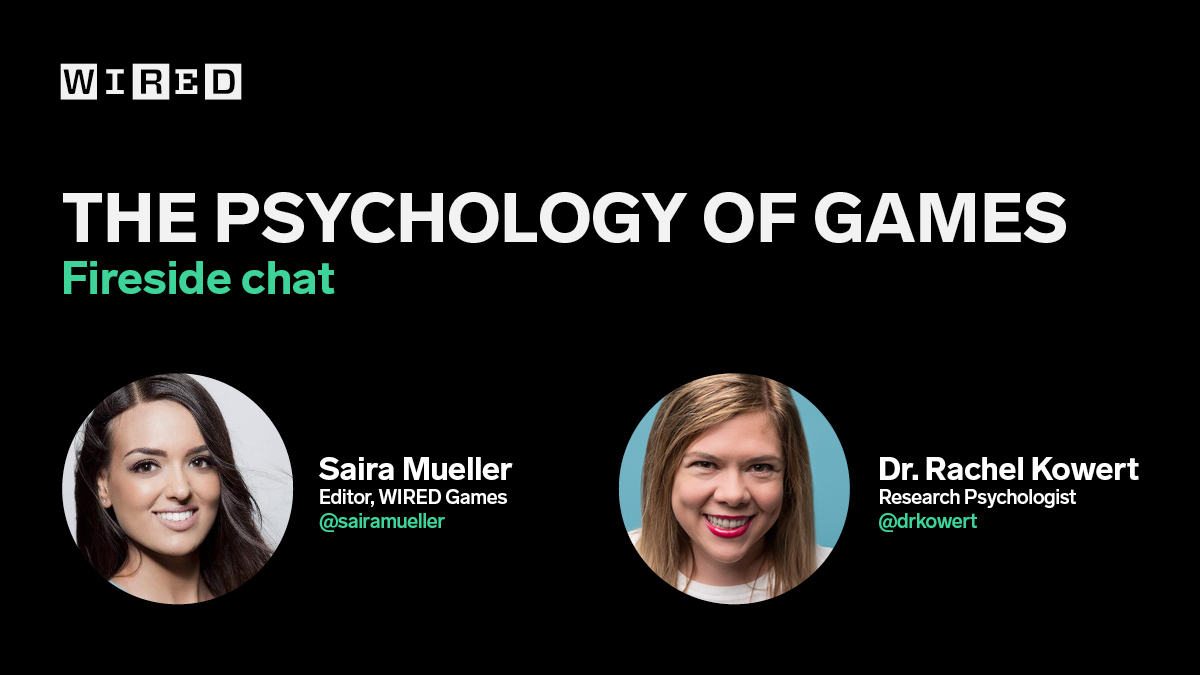 Mark your calendars! Tomorrow, @sairamueller and @drkowert will be talking about the psychology of games during a fireside chat on @joinclubhouse and Twitch. The conversation starts at 5pm PT (8pm ET) and don't forget to bring your questions.