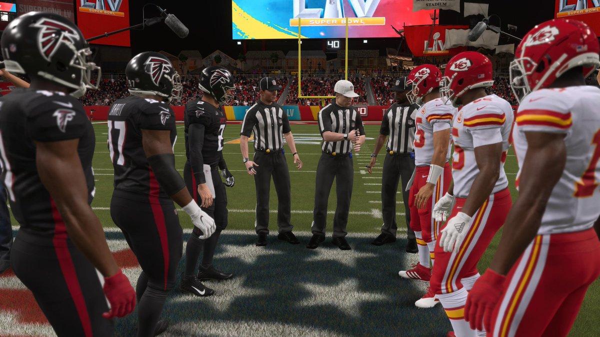 Nach einer harten Saison in #MaddenNFL21 den #SuperBowlLV mit den @Chiefs gegen die @AtlantaFalcons gewonnen! Nach dem Sieg mit den @Giants mein zweiter Ring 💪