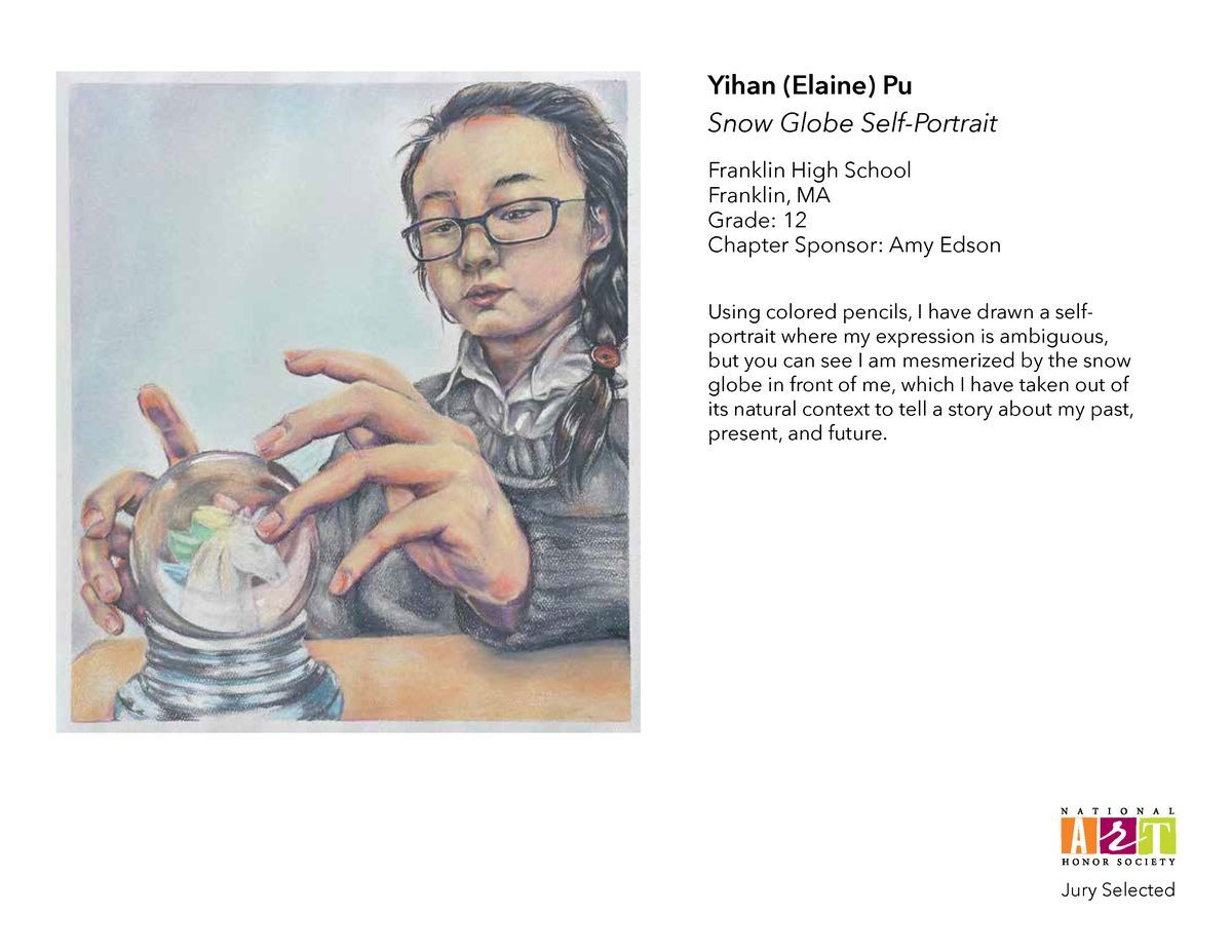 FHS' Yihan Pu selected for National Art Honor Society exhibit