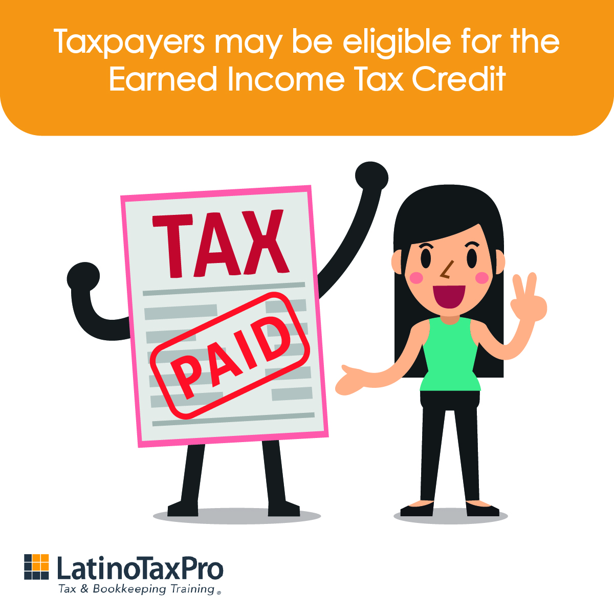 The Earned Income Tax Credit gives tax workers with low to moderate income a financial boost and may get them a refund even if they don't owe any taxes 💵 . . . . #taxes #tax #accounting #business  #taxpro #taxrefund #irs #taxtip #refund #taxprep #taxhelp #latinotaxpro #impuestos