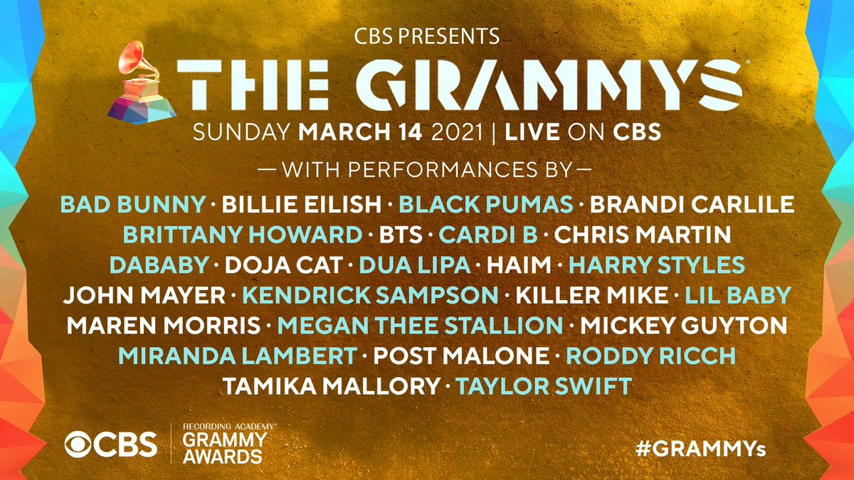 ONE WEEK till these performers hit the #GRAMMYs stage on CBS! 🤩 Are you ready?!
