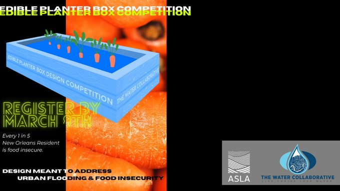 Deadline for 's Planter Boxes Competition is TOMORROW! Apply now at #ASLA2021