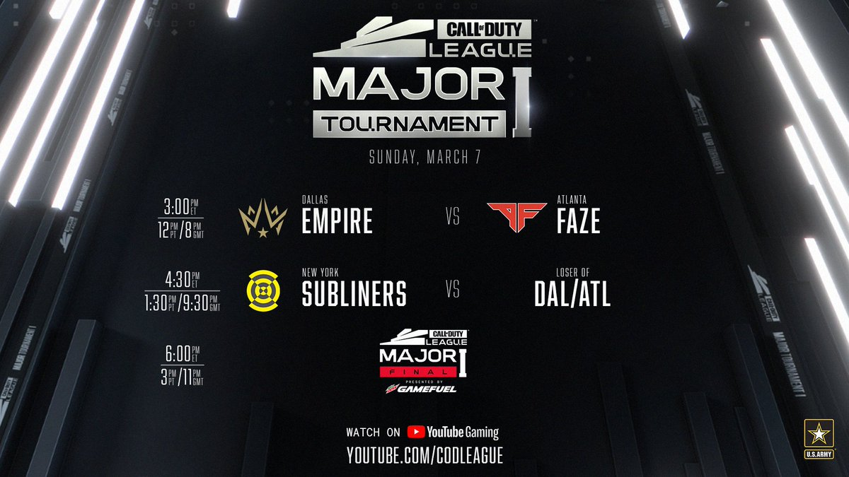 It's #ChampionshipSunday 🏆 here at the @CODLeague Stage 1 Major!  A rematch from the Champs Final starts things off!   HERE WE GO -