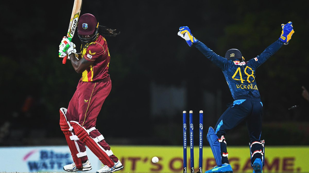 Down to the wire.  West Indies 112/7. They need 20 runs off the last two overs.  #WIvSL |