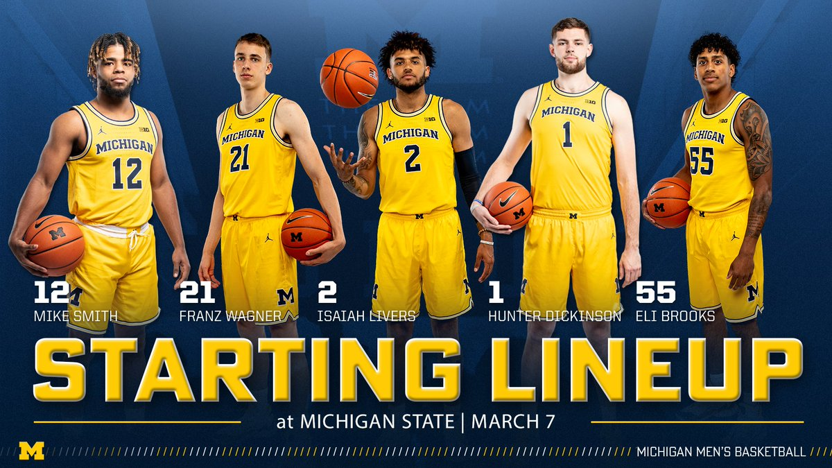 Starting Five! #GoBlue 〽️🏀