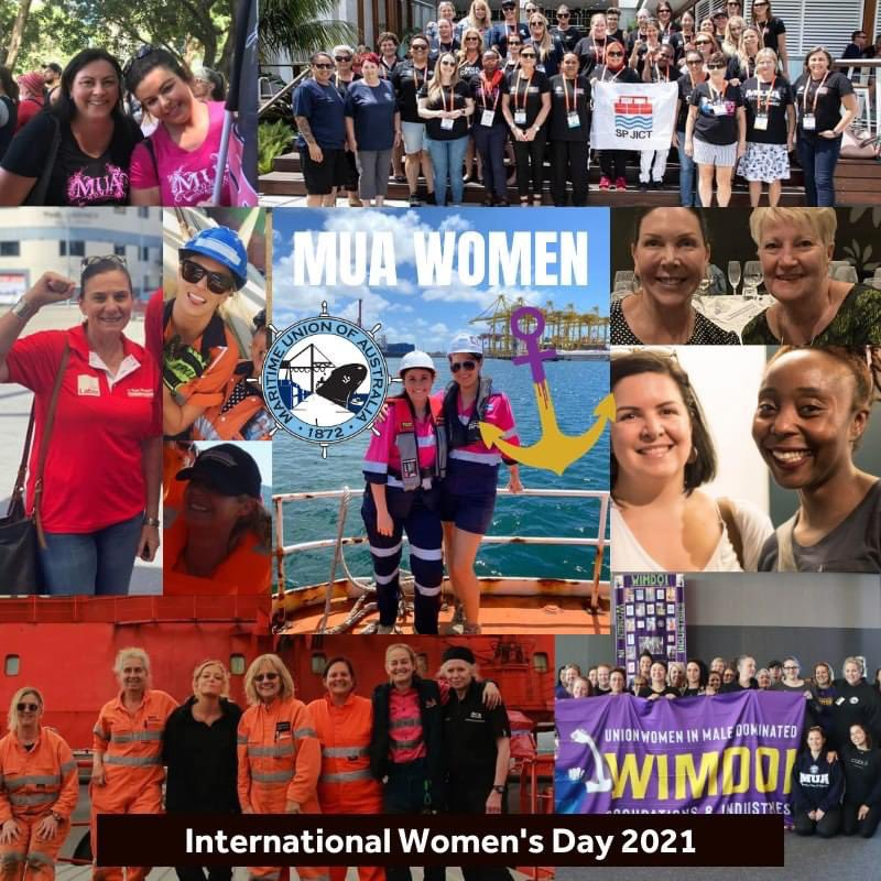 Happy International Womens Day to all our sisters in the MUA and across the movement. Join us at #IWD events today and @womensmarchaus on March 15. #ausunions #March4Justice #IWD2021