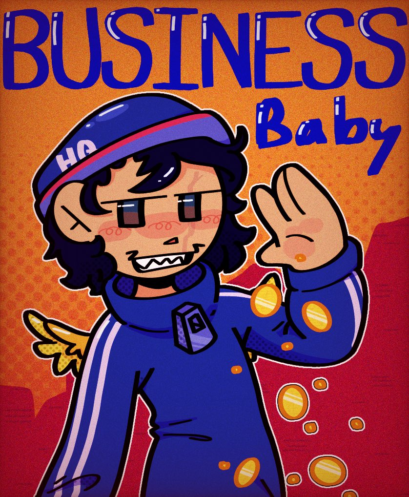 """""""just business baby"""" But yes it's ya boy quack city   #QUACKITYFANART #quackity #dreamsmp"""