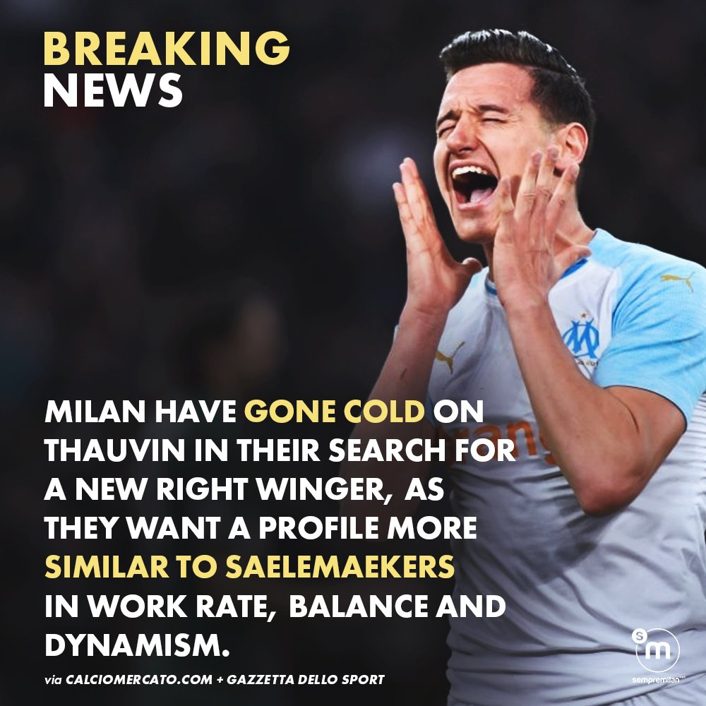 👎 #ACMilan are no longer keen on Florian Thauvin, according to @Gazzetta_it.   🤔 Who should the new target be? Comment below! 👇