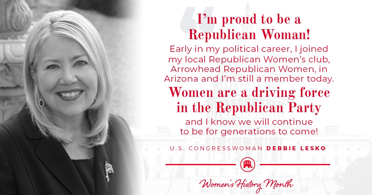 Republican women shape so much of our party's history.  @DebbieLesko explains how important being a woman and a Republican is this #WomensHistoryMonth⬇️