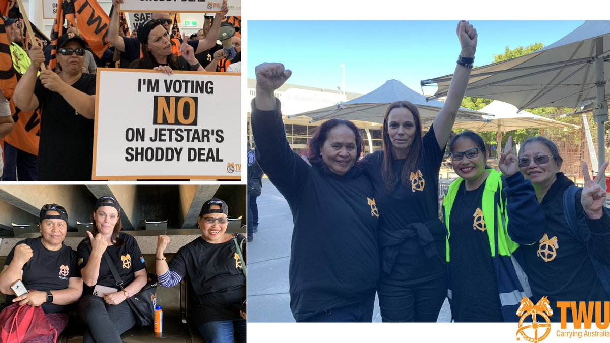 Big shout out on #IWD to these TWU women. Marion Harris, Julia Putua and their crew at Cabin Services have tirelessly supported their colleagues at @Qantas, @JetstarAirways, @VirginAustralia and Dnata. They have lent their voices and their courage when we needed them most