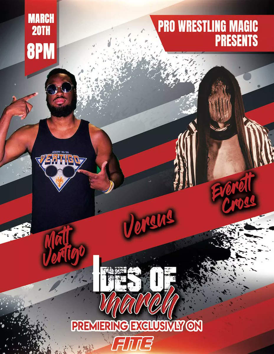 #ANNOUNCEMENT  3/20 at 8pm (EST)  Only on @FiteTV   @GodofDrivers welcomes @MattVertigo to the #ProWrestlingMagic Kingdom.  Tune in and see the magic.