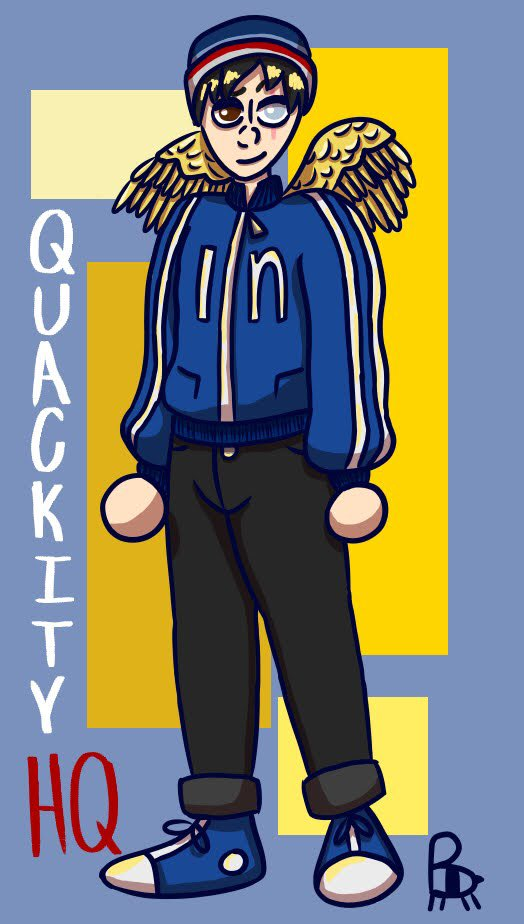 Decided to finally draw some Big Q, not sure if it's cannon or not but I'm really into the idea of him having wings and a scar so screw it I put it in! @Quackity @quackity4k #quackityfanart #dsmpfanart #quackity #mcytfanart