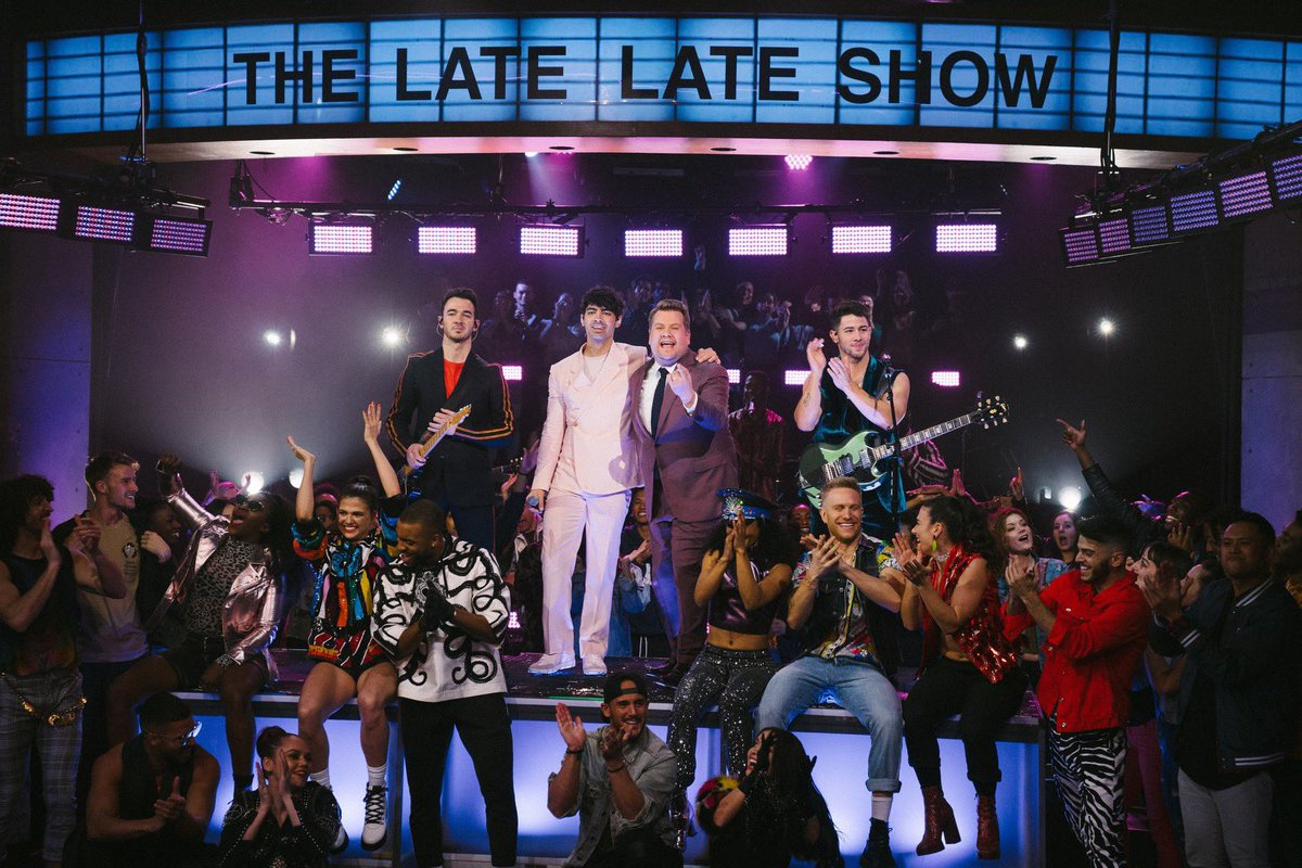 On this day 2 years ago, the last episode of #LateLateJonas aired! That week was a B L E S S I N G! Time to binge watch all their clips, again. 😁  @jonasbrothers @JKCorden