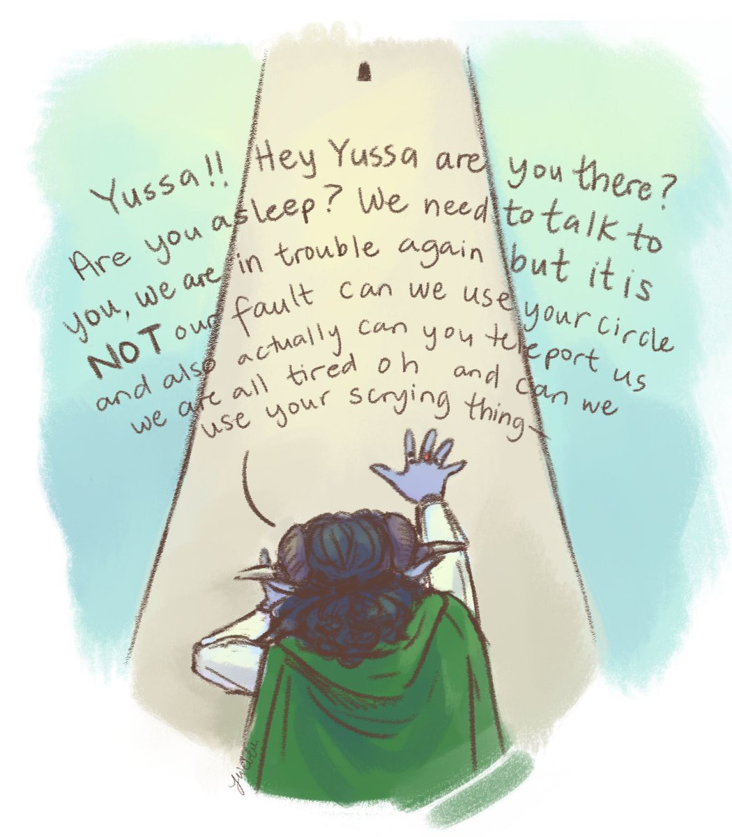Yussa, the next time the mighty nein get within 100 ft of his tower  #criticalrole #criticalrolefanart #criticalrolespoilers