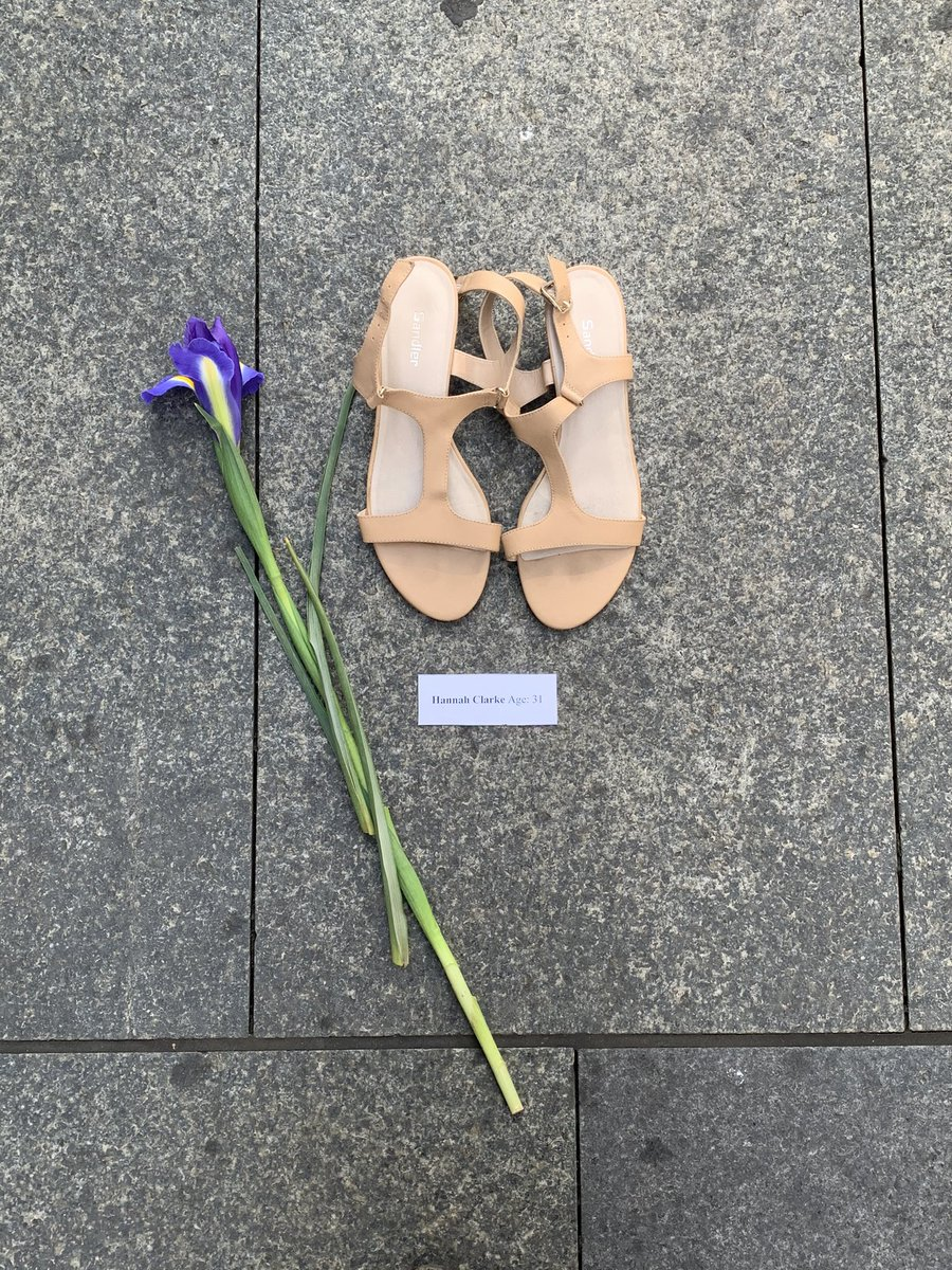 66 pairs of shoes for the 66 women killed in the last 12 months in Australia, as a result of domestic violence. This moving installation by Lou's Place, a daytime women's refuge in Kings Cross, is in Martin Place today for #iwd2021