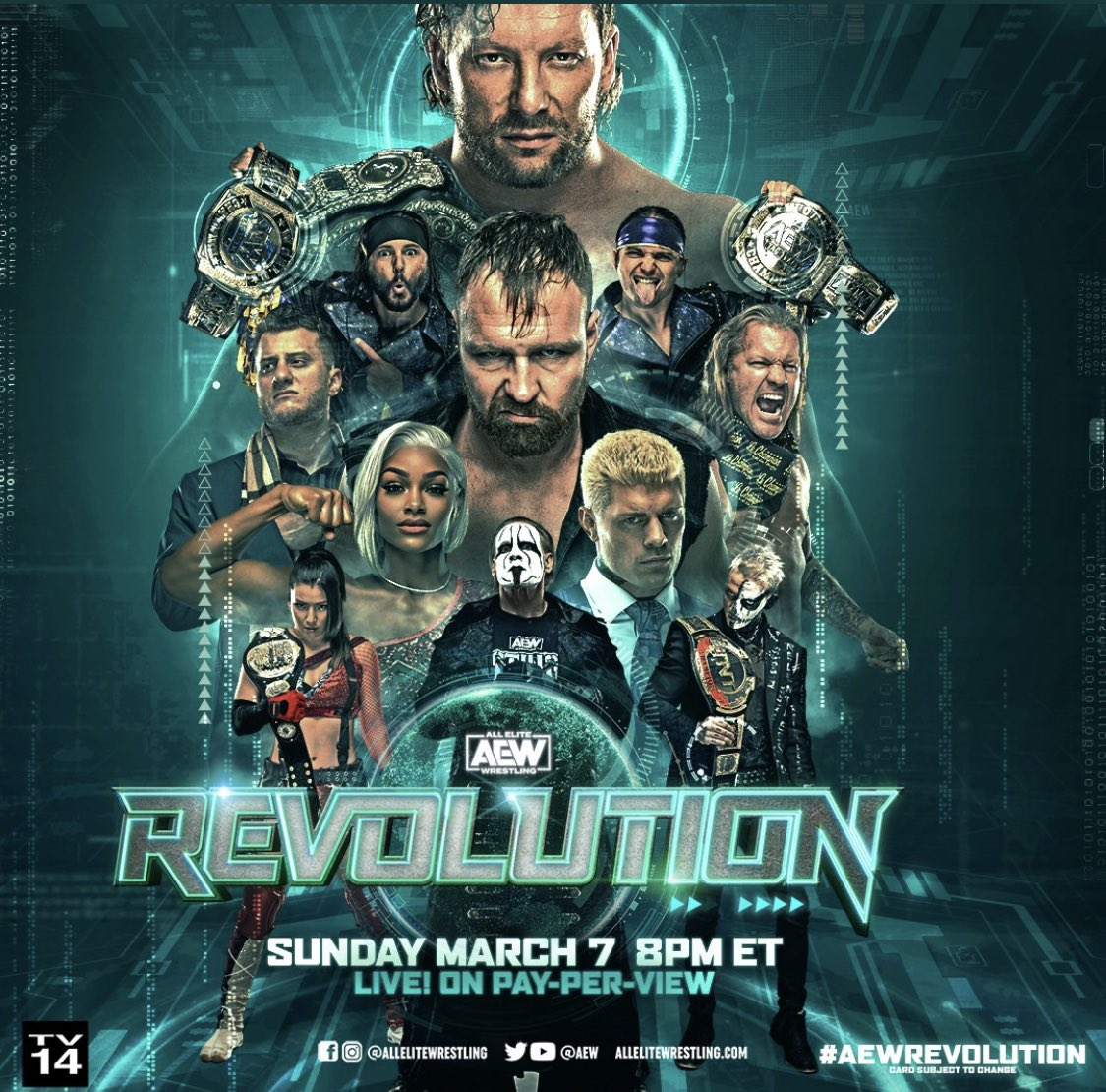 we are moments away wait from #AEWRevolution. The Promos that @AEW put together are outstanding! Who else is just as excited to view this PPV? #excited #TagTeamTitles #ChampionshipSunday #andyournew #andstill #thisisawesome #fightforever #what #onefall #tougherthanatwodollarsteak