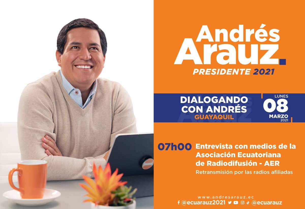 #ArauzEnMedios 🎙 | Mañana, sigue las entrevistas de nuestro futuro presidente de Ecuador, @ecuarauz.  #ElBinomioDeLaEsperanza  [En Vivo] por ➡️ https://t.co/q2RgjdddyL https://t.co/VIZrQYPxpR