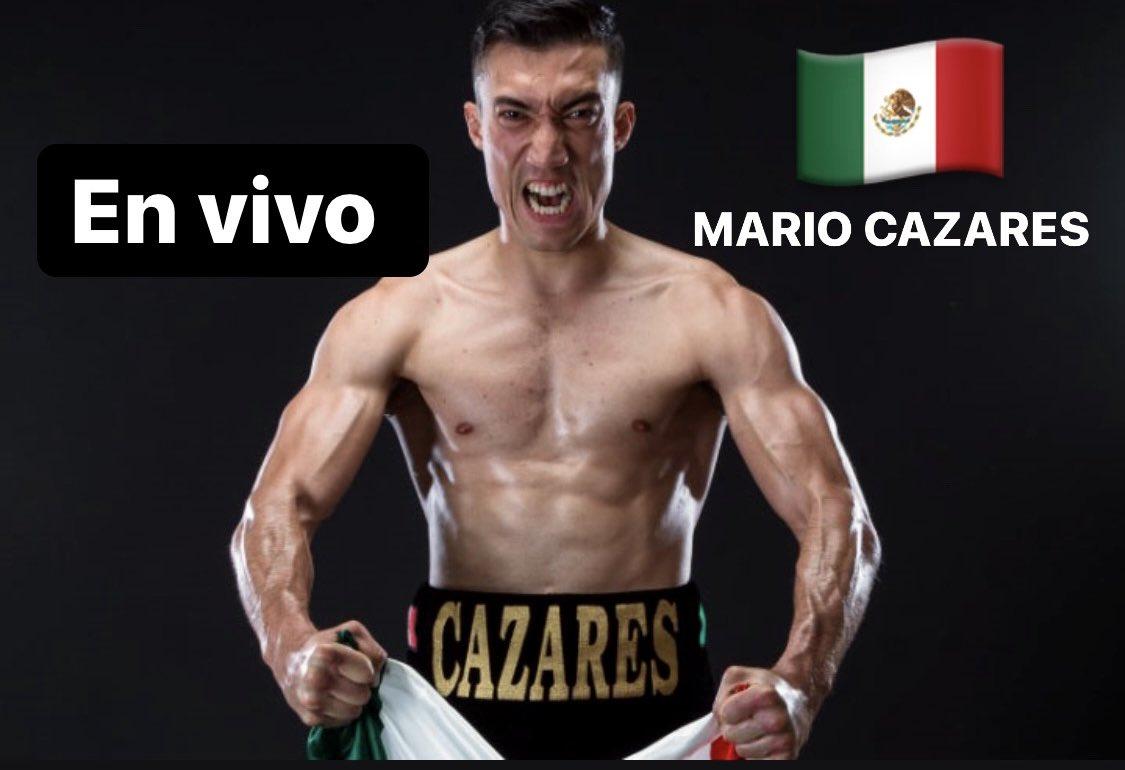 En VIVO !!! A las 8:00pm ET en vivo aquí 👉🏾👉🏾  🤏🏿🤏🏿 ! Estaremos con el invicto boxeador mexicano @mariocazaresmx !!! Su última victoria fue contra @jcchavezjr1 en septiembre pasado. Te esperamos #Chavezjr #Canelo #boxeo #boxeomexicano #Mexico #Boxing 🇲🇽🥊