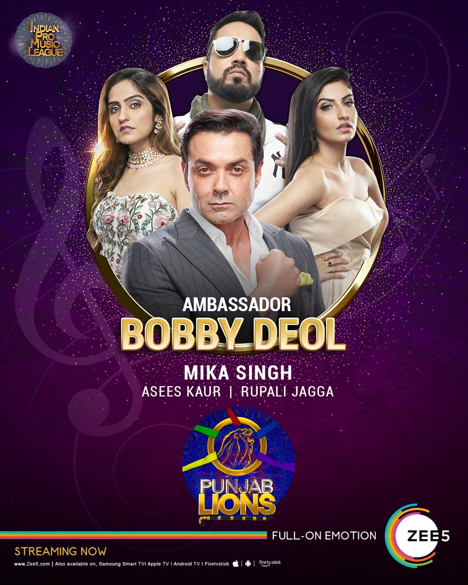Bow down to the kings and queens of music! Punjab Lions!!!  ▶️   #IndianProMusicLeague | #IPML | #IPMLOnZEE5 | #IndianProMusicLeagueOnZEE5 | @ipmlofficial | @thedeol | @MikaSingh | @AseesKaur | @RupaliJagga