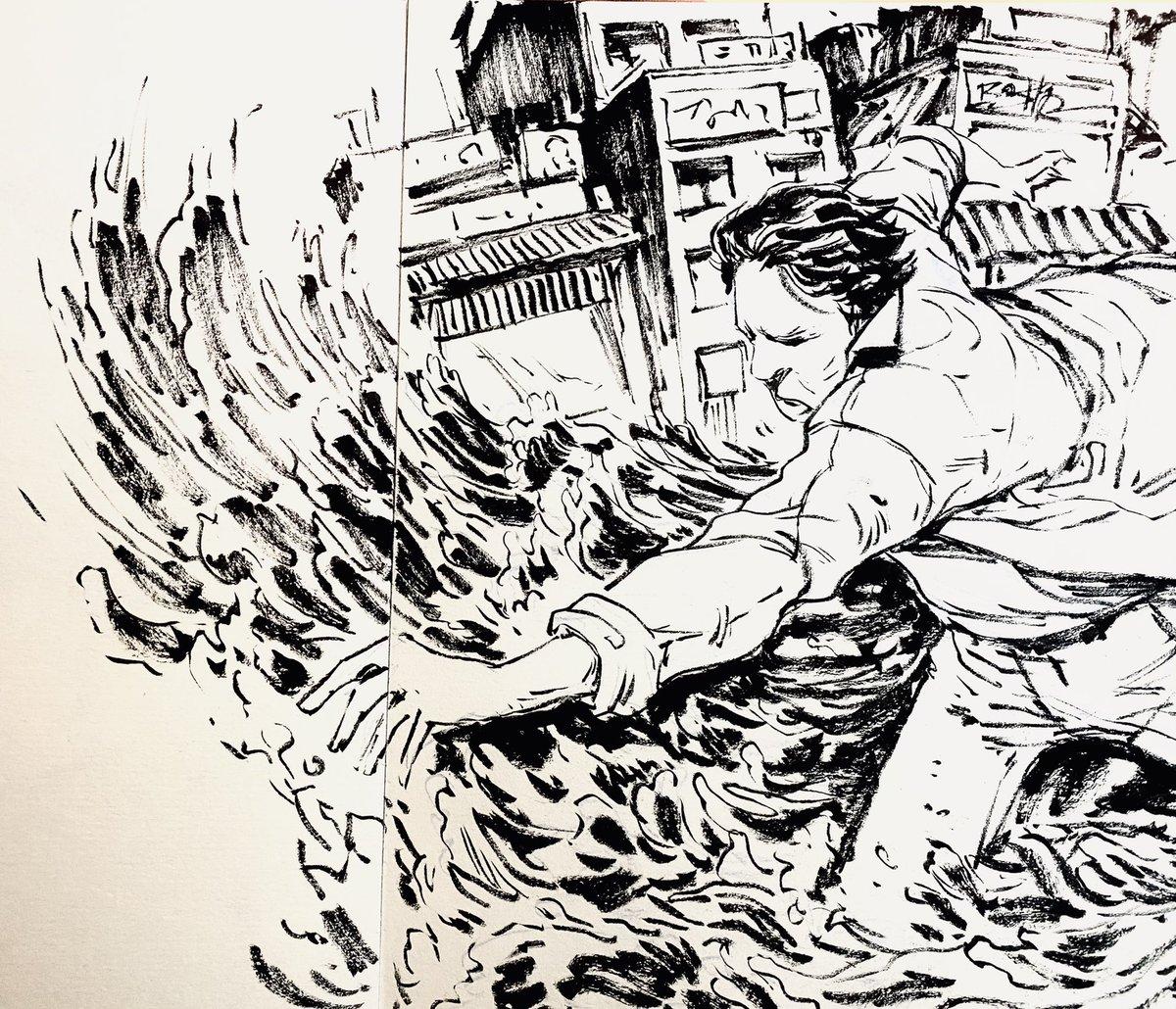 Don't ask me what is this ?! Just Daily sketch 😅#dailysketch #art #dailyinking #quickink #clowns #crosehatching #basharart #zurich #olten #head #ink #inkbrush  #anime #manga #comic #wiseman #visual #art #kunst #komic #traditionalart #budo #japan #monk #artwork #dailyart