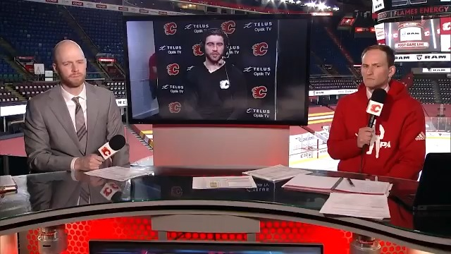 It was good character coming back but ... weve got to do that in the whole 60 (minutes). Dillon Dube talks to #Flames TV following the shootout setback to the Senators.