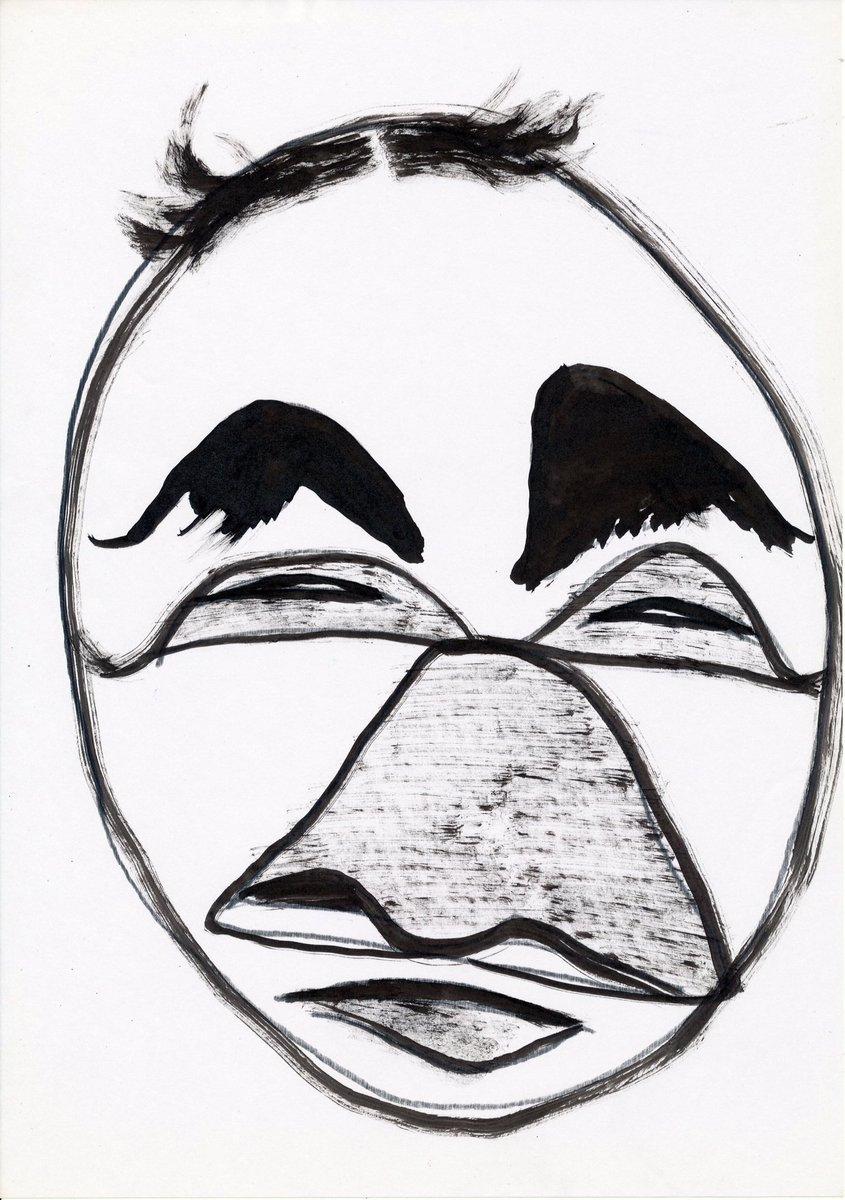 ピエロ #art #artwork #illustration #clown #アート #芸術 #絵画 #イラスト #ピエロ #アナログ絵 #アナログ絵描きさんと繋がりたい